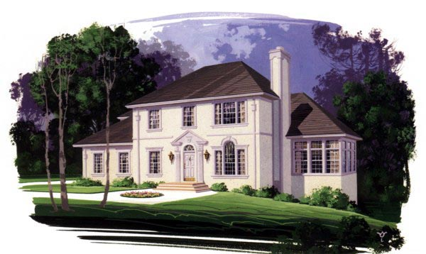 European House Plan 92361 Elevation