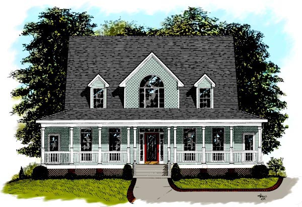 Country Southern House Plan 92363 Elevation