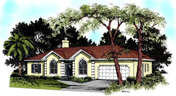 Florida House Plan 92365 Elevation