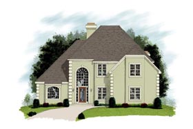 European House Plan 92366 Elevation