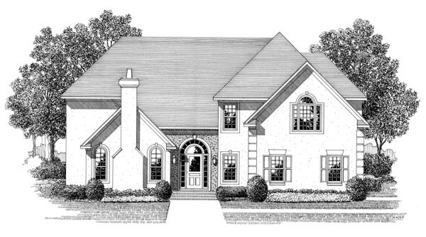 Traditional House Plan 92370 Elevation