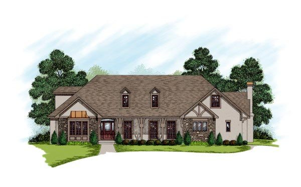 Tudor , European , Country House Plan 92371 with 4 Beds, 4 Baths, 2 Car Garage Elevation