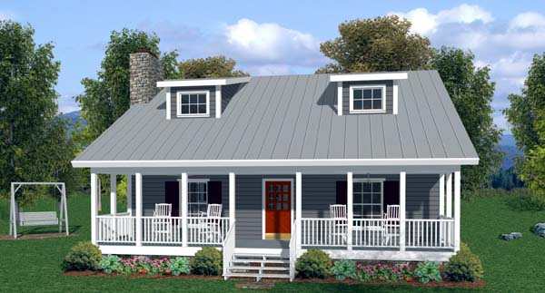 Country Traditional House Plan 92372 Elevation
