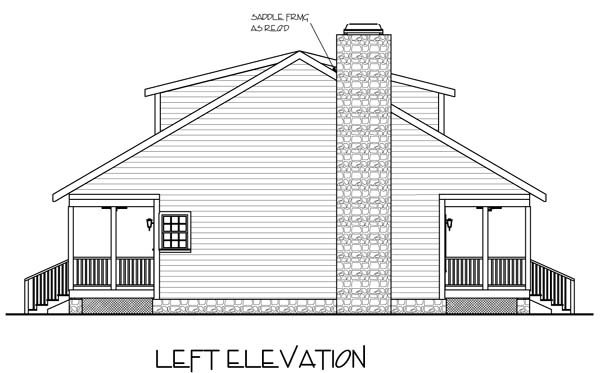 Country, Traditional House Plan 92372 with 3 Beds, 3 Baths Picture 1
