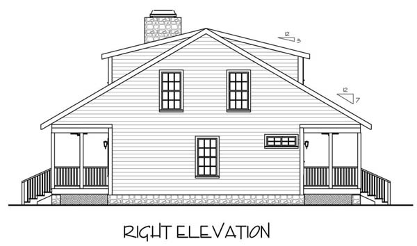 Country, Traditional House Plan 92372 with 3 Beds, 3 Baths Picture 2