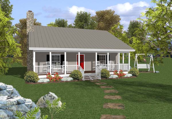 Cabin Country Ranch House Plan 92376 Elevation