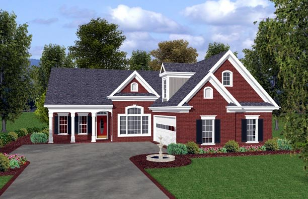 Traditional House Plan 92379 Elevation
