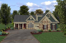 Country Craftsman House Plan 92380 Elevation