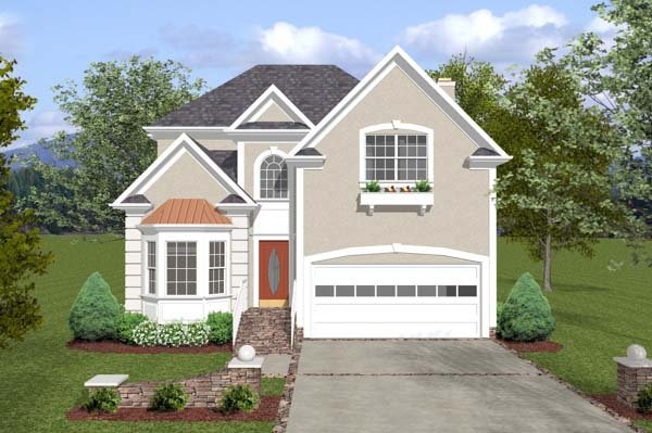Traditional House Plan 92382 with 3 Beds, 3 Baths, 2 Car Garage Elevation