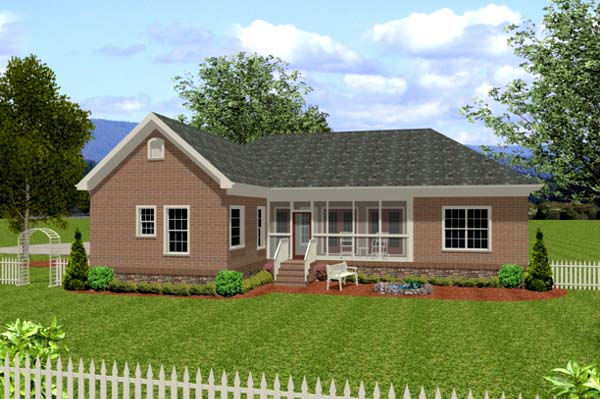 Traditional House Plan 92383 Rear Elevation