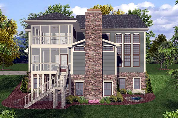Craftsman House Plan 92386 Rear Elevation