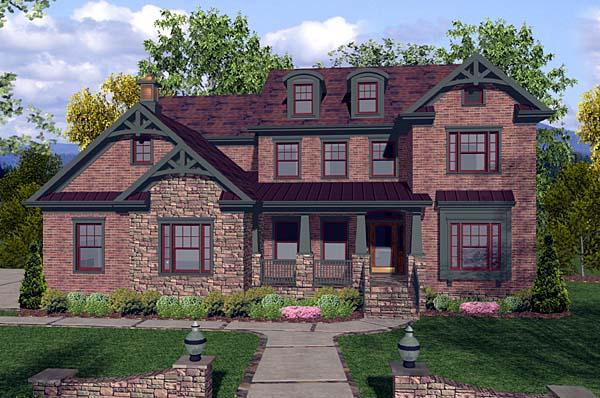 Craftsman House Plan 92387 Elevation