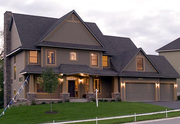 Craftsman Style House Plan 92394 With 3770 Sq Ft 4 Bed 3