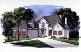 European Victorian House Plan 92403 Elevation