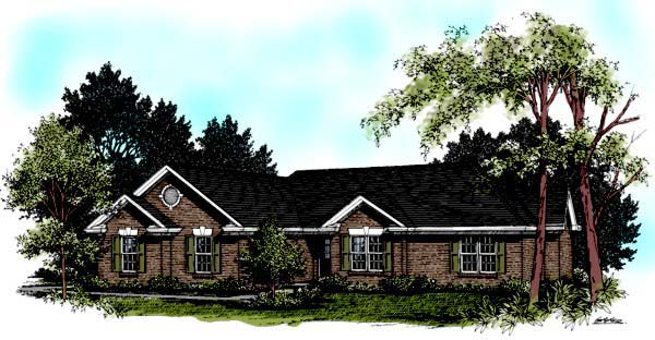 One-Story , Ranch , Elevation of Plan 92405