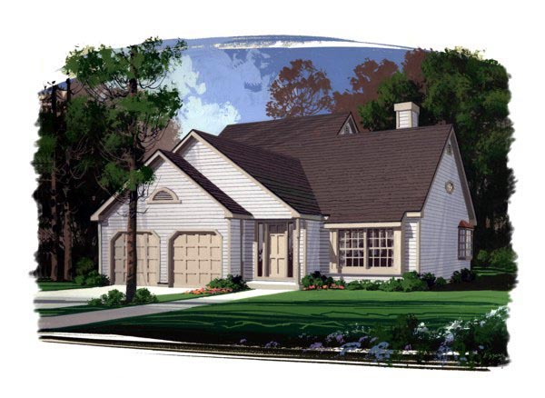 Country Traditional House Plan 92409 Elevation