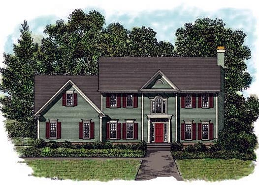 Colonial House Plan 92410 Elevation