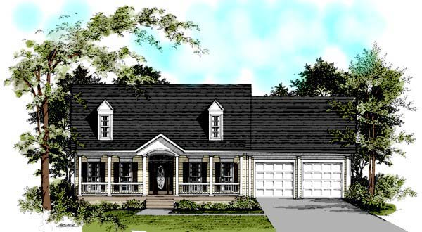 Cape Cod Country House Plan 92411 Elevation