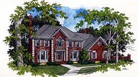 Colonial European House Plan 92412 Elevation