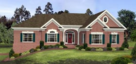 House Plan 92418 | Ranch Style Plan with 2564 Sq Ft, 3 Bedrooms, 3 Bathrooms, 2 Car Garage Elevation
