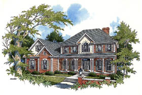House Plan 92419 | Country European Style Plan with 2546 Sq Ft, 4 Bedrooms, 4 Bathrooms, 3 Car Garage Elevation