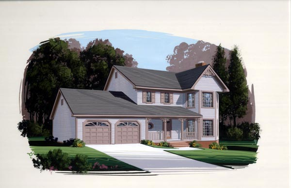 Bungalow, Country House Plan 92424 with 3 Beds, 3 Baths, 2 Car Garage Elevation