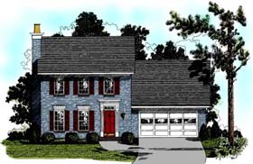 Colonial House Plan 92432 Elevation