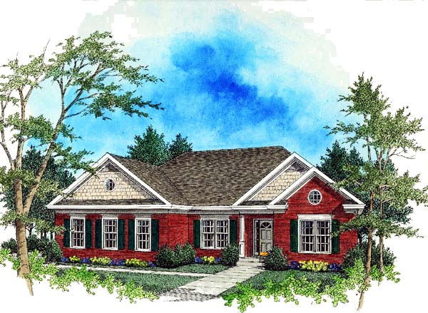 Bungalow Ranch House Plan 92434 Elevation