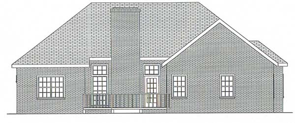Bungalow Ranch House Plan 92434 Rear Elevation