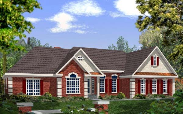 European House Plan 92436 Elevation
