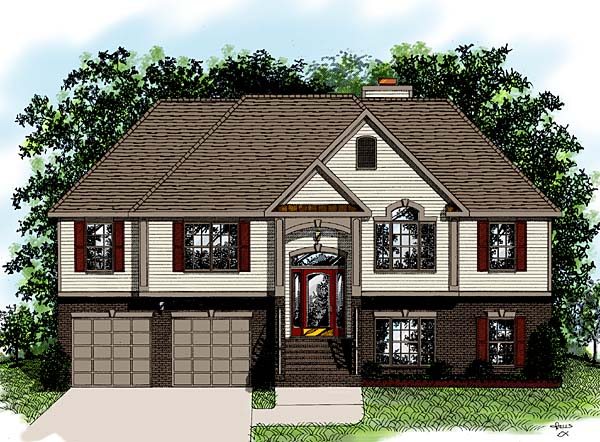 European House Plan 92441 Elevation