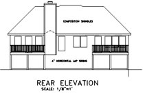 European House Plan 92441 Rear Elevation