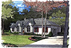 European House Plan 92445 Elevation