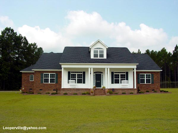 Cape Cod Country Farmhouse Ranch House Plan 92446