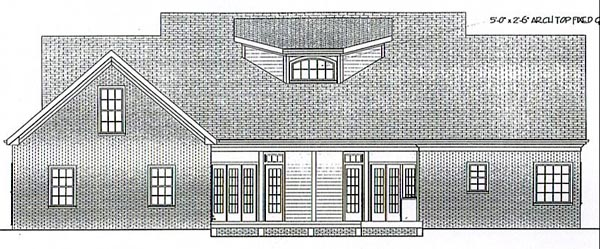 Cape Cod Country Farmhouse Ranch House Plan 92446 Rear Elevation