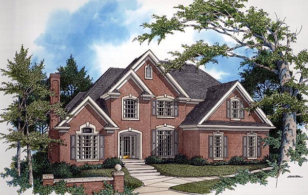 European, Tudor House Plan 92452 with 4 Beds, 4 Baths Elevation