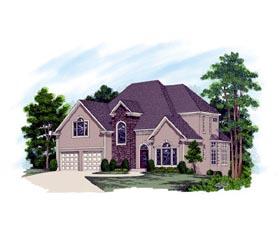 European House Plan 92454 Elevation