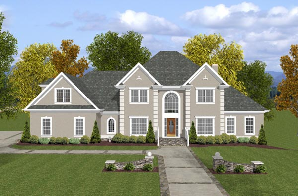 European House Plan 92456 Elevation