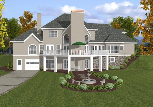 European House Plan 92456 Rear Elevation
