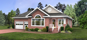 Traditional House Plan 92458 with 3 Beds, 2 Baths, 2 Car Garage Elevation