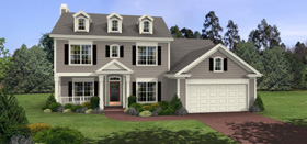 Colonial, Country House Plan 92460 with 3 Beds, 3 Baths, 2 Car Garage Elevation