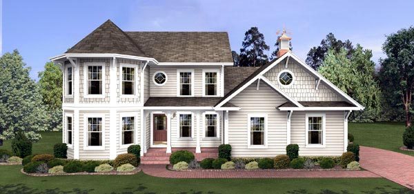Colonial Victorian House Plan 92462 Elevation