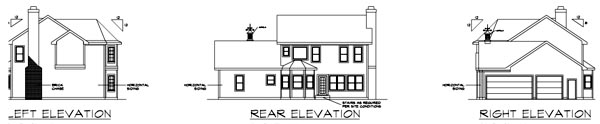 Colonial Victorian House Plan 92462 Rear Elevation