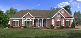 Ranch House Plan 92463 Elevation