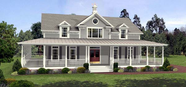 Country Farmhouse Southern House Plan 92465 Elevation