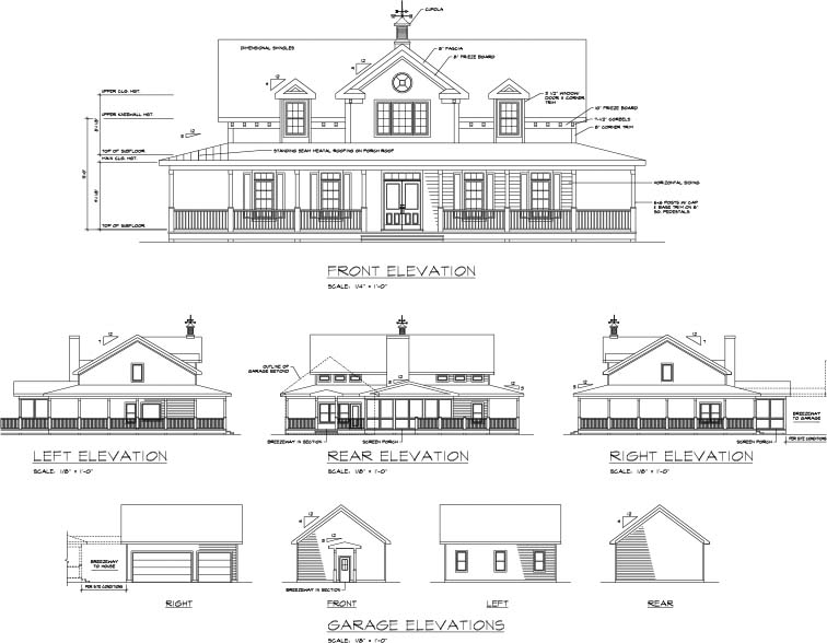 Country, Farmhouse, Southern House Plan 92465 with 3 Beds, 3 Baths, 3 Car Garage Picture 1