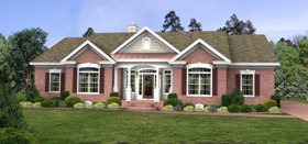Colonial Country House Plan 92466 Elevation