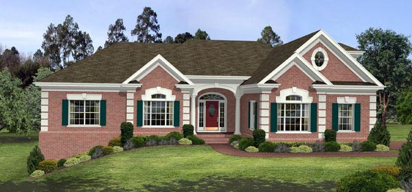 Traditional, House Plan 92468 with 3 Beds, 4 Baths, 3 Car Garage
