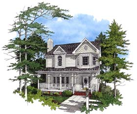 Country Craftsman House Plan 92469 Elevation