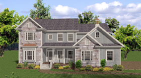 House Plan 92471 | Country Traditional Style Plan with 2698 Sq Ft, 5 Bedrooms, 5 Bathrooms, 4 Car Garage Elevation